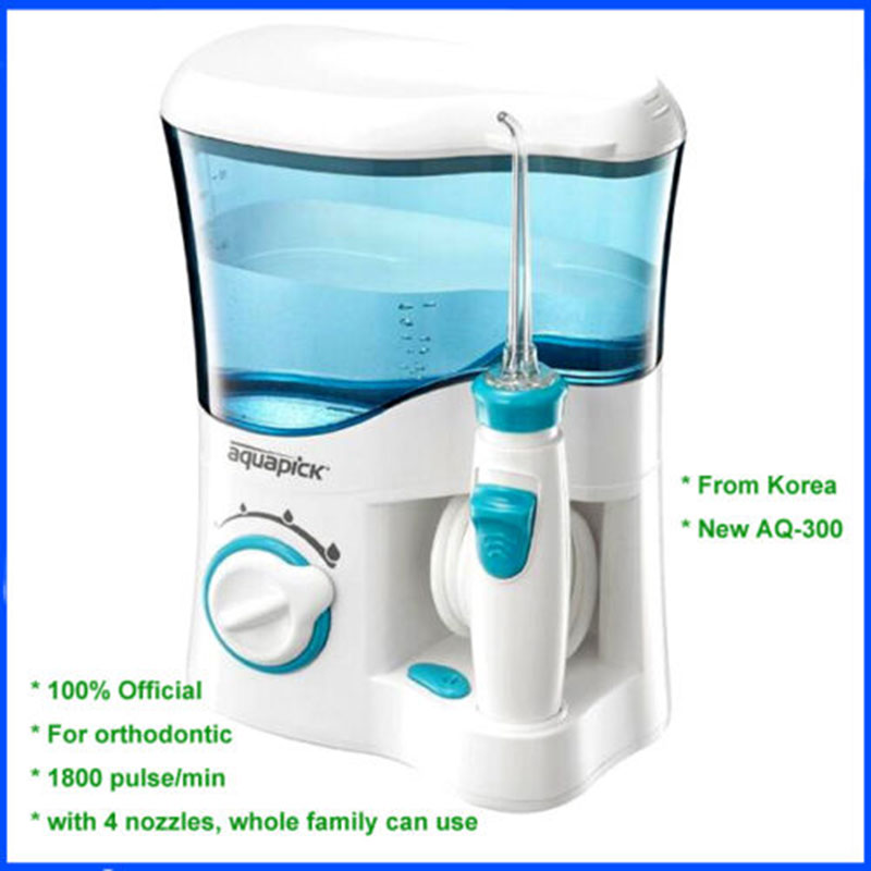 Korean Aquapick AQ-300 Oral Hygiene Dental Care Water Flosser Waterjet 110~240V