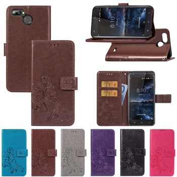 Blackview A7 Pro Case Lucky Four Leaf Clover Desgin PU Leather Wallet