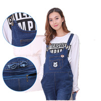 Maternity Denim Overalls Rompers Fashion Loose Pregnant Jumpsuits Adjustable Waist Suspender Jeans Jumpsuite Pregnancy Clothes