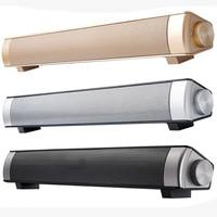 Good Quality Stereo 5w*2 Metal Bluetooth Voice Box Soundbar Home Audio Mini Speaker Remote Control YYS S08