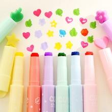 6 pcs/lot new Pattern seal cartoon cute creative  highlighter marker pen office school supplies gift child free shipping