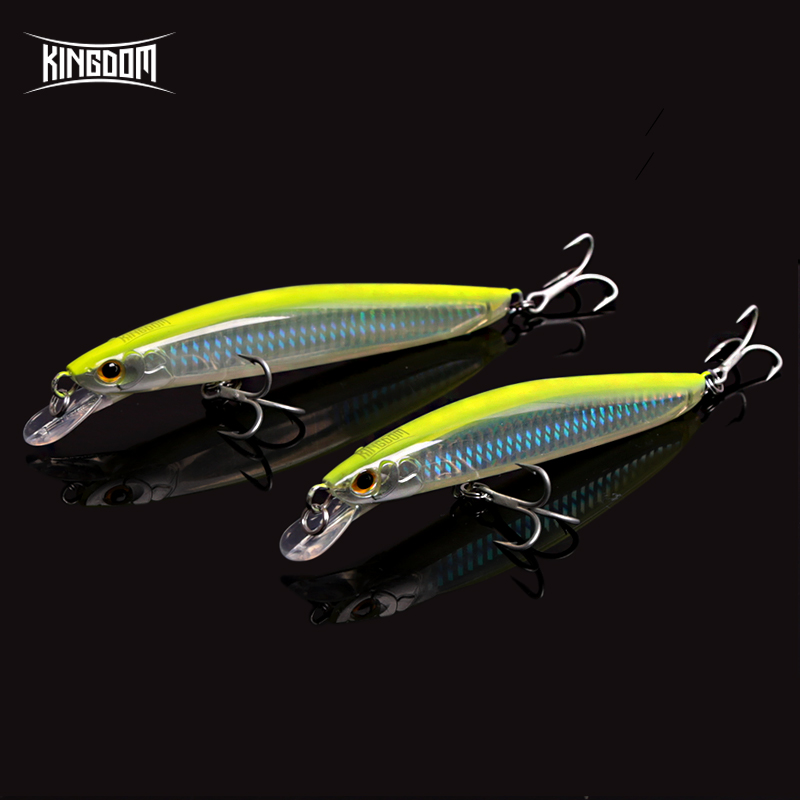 Kingdom sea Fishing Lures Saltwater 120mm/23g,130mm/30g Floating Artificial Bait Minnow Wobblers Hard Lure Model 7502 kingdom 130mm 20g minnow fishing lures hard bait fishing tackle plastic lip vmc hook for sea water five colors model 3523