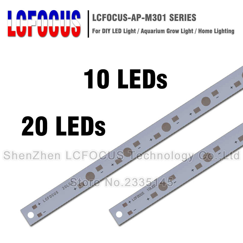 10W 20W 50W 100W LED Aluminum Base Plate with holes PCB Board for LED Lamp Support 1W 3W 5W LED to Soldering In The Lamp Panel