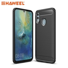 HAWEEL Phone Case for Huawei Honor 10 Lite/ P Smart 2019 Carbon Fiber Texture TPU Shockproof Cover Shell