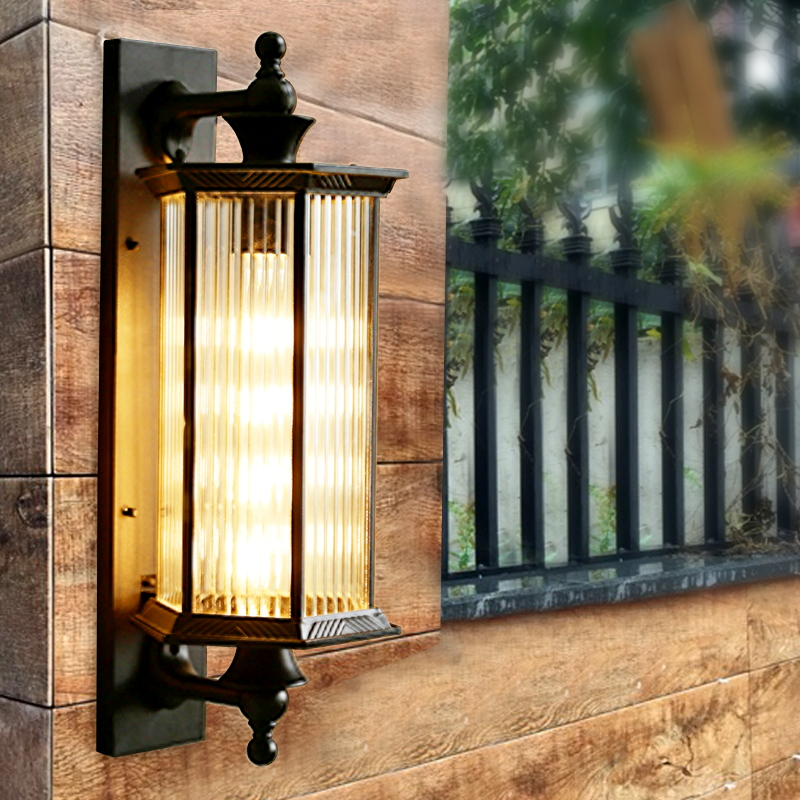 Park street Outdoor Wall Lamp indoor lighting Waterproof Balcony Led Wall Lights Courtyard Villa Door Lamp Exterior Wall sconce outdoor small column courtyard wall lamp post villa exterior wall lamp lu8141400