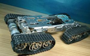 Image 1 - 合金タンクーシャーシトラクタークローラクローラ知能ロボットカー障害物回避barrowland diy rcのおもちゃリモートコントロール