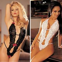 Hot Sale Sex Products Sexy Costumes Women Underwear Lady Sexy Lingerie Transparent Conjoined Dress Suit Leotard Intimates YEUW