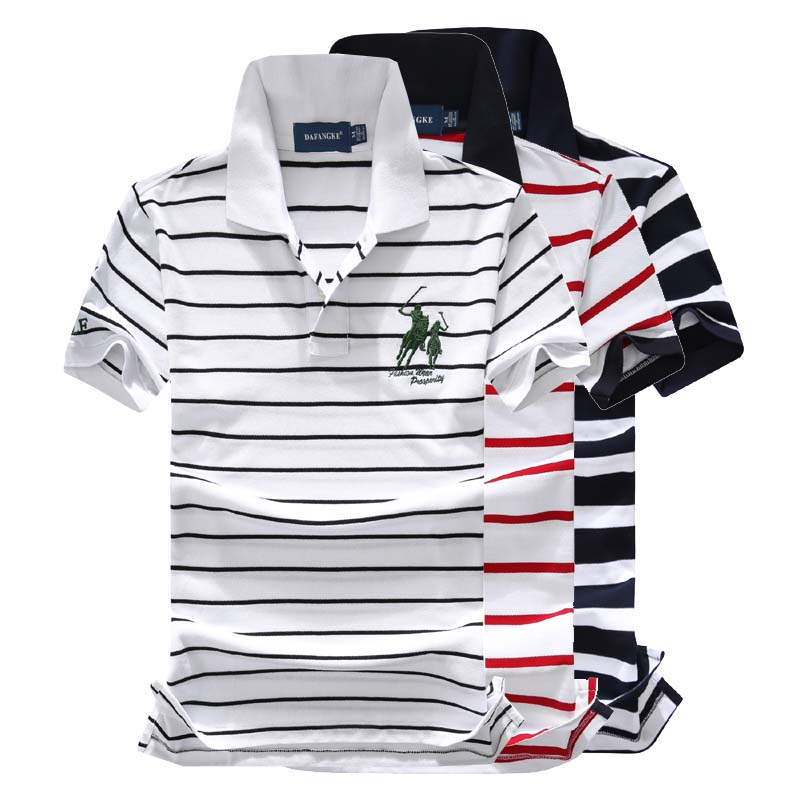 New Summer Men's POLOShirt 3D Embroidery High Quality Tops For Man Short Sleeve Striped Business Casual Brand Polos Para Hombre