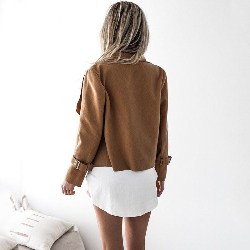 Women Autumn Cardigan Jacket Women Long Sleeve Outerwear Coats 2018 Turn  down Collar Winter Casual Open Stitch Women Coats-in Basic Jackets from  Women s ... 8401c7b58