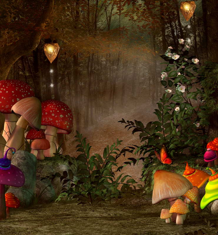 Fall Harvest Wallpaper Images 10x10ft Autumn Forest Fairy Tale Wonderland Mushroom
