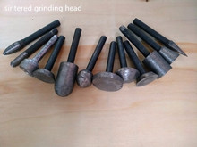 6mm shank diamond sintered carving and grinding head for stone carving and grinding used on electric die grinder machine