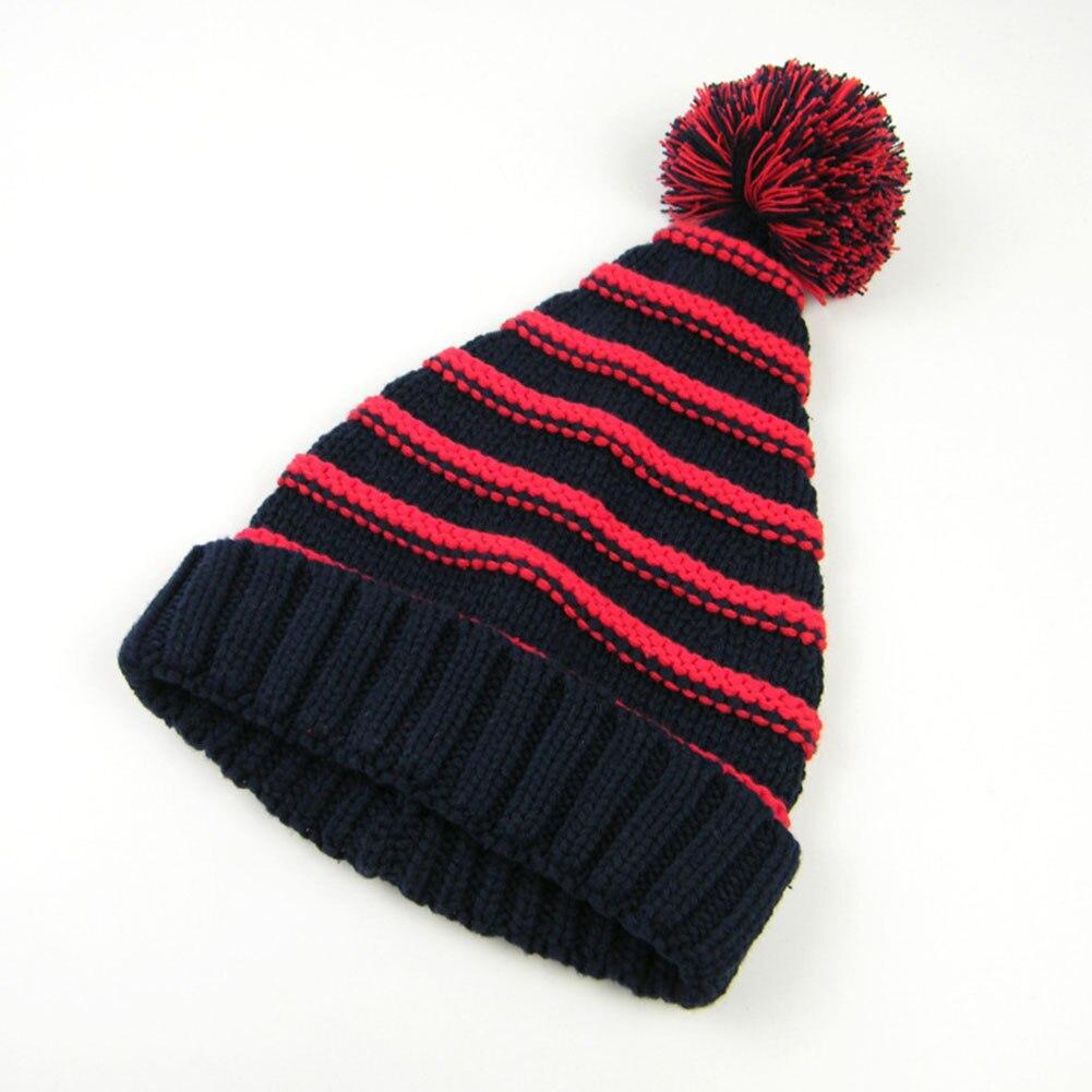 100% Wahr Neue Herbst Winter Baby Kleinkind Warme Hüte Cistmas Polar Fleece Streifen Mädchen Jungen Stricken Hut