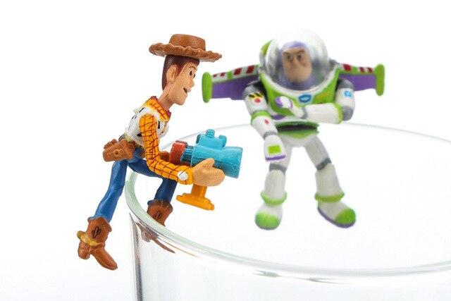 Ofertas especiales 8 unids set Toy Story 3 Woody Buzz Lightyear Doll Cute  PVC Action Figure muñeca colección modelo juguete muñeca regalos envío  gratis 199716f7456