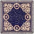 Super Large Silk Square Scarf Euro Style Floral Pattern Petal Leaf Print Silk Scarf 100*100 cm Brand Quality Gift Fashion Shawls