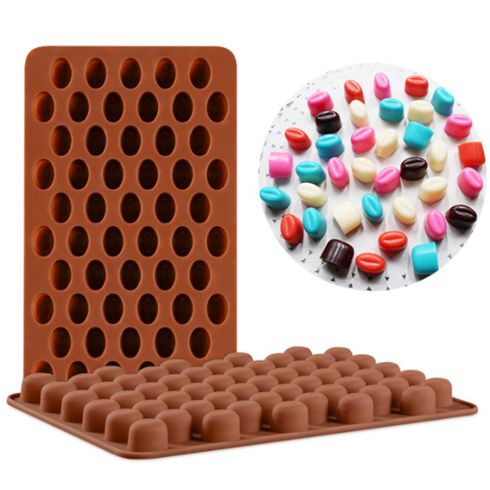 Chocolate Beans Shaped Silicone Chocolate Molds Baking Pastry Tools Chocolate Form Kitchen Bakeware Supplies Silicone Mold image