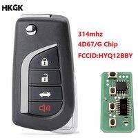 4 knoppen Afstandsbediening Autosleutel Fob Voor Toyota Camry Avalon Corolla Matrix RAV4 HYQ12BBY 314.4 Mhz Transponder G/4D67 chip