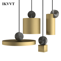 IKVVT Modern Pendant Lights LED Hanging Loft Pendant Lamps Living Room Kitchen Fixtures Coffee Luminaire Lighting Pendant Lamp