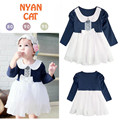 Toddler Girl Dresses Children Clothing 2016 Brand Baby Girls Dress Kids Clothes White Bow Princess Dress Little Girls Dress