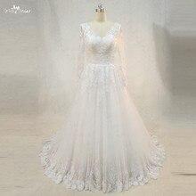yiaibridal RSW975 Neckline Long Sleeve Wedding Dresses