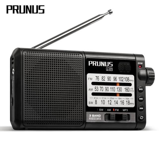 PRUNUS נייד רדיו מקלט AM FM/SW רטרו בגלים קצרים רדיו AUX/TF כרטיס MP3 לשחק נטענת רדיו עם DSP 2200mAh סוללה
