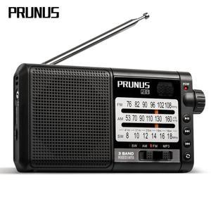 Image 1 - Портативный радиоприемник PRUNUS, AM FM/SW, ретро, коротковолновый радиоприемник, AUX/TF карта, MP3, перезаряжаемое радио с батареей DSP 2200 мАч