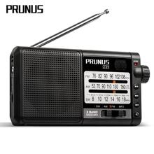 PRUNUS Portable radio receiver AM FM/SW retro shortwave radio AUX/TF Card MP3 Play Rechargeable radio with DSP 2200mAh battery