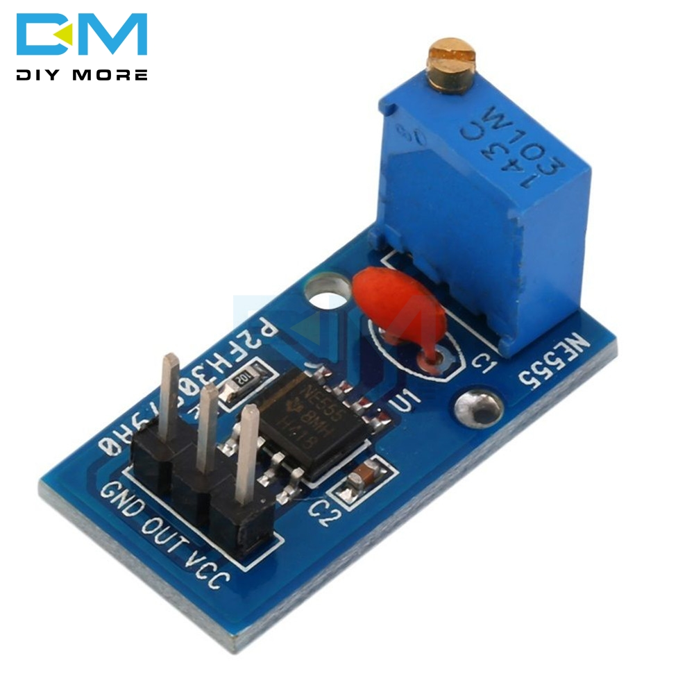5PCS NE555 Adjustable Resistnce Frequency Pulse Generator Module For Arduino Smart Car 5V-12V Single 1 CH Channel Output Module