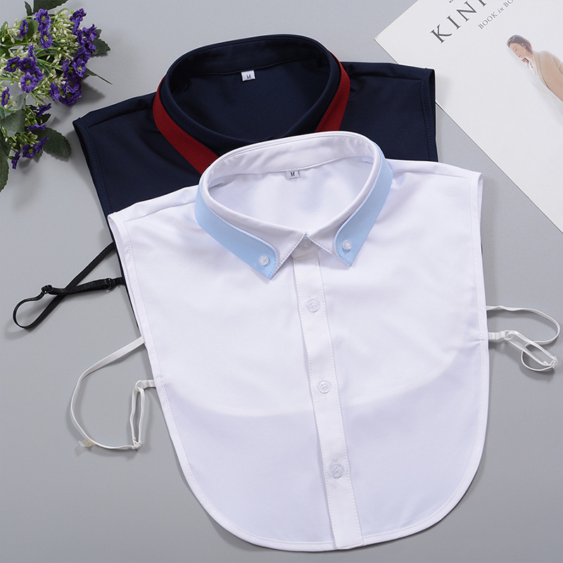 Men's Fake Collar Shirt 2019 New Removable White Mens Fake Collar Cotton False Collar Male Kragen Detachable Collars Nep Kraag