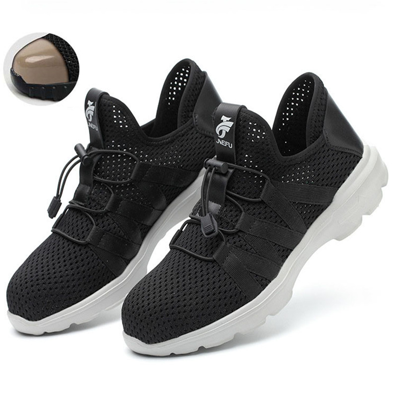 breathable Comfortable safety shoes men s Lightweight summer Anti smashing Anti piercing piercing work sandals Single mesh lisse