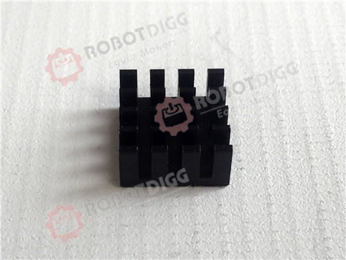 5set/lot Heatsink 14mm Length 14mm width 7.5mm Height and Heatsink 9mm Length 9mm width 5mm Height for RASP  Berry