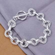 9224ee14e4a9 Estilo de verano fina 925 pulsera de plata esterlina 925-Sterling-Silver  joyas pulseras de cadena bijouterie para hombres SB319