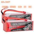 2 шт.  аккумуляторная батарея GOLDBAT 5000 мАч 14 8 в для радиоуправляемого аккумулятора LiPo 4S 50C с разъемом Deans T & XT60 для радиоуправляемого грузовика-...
