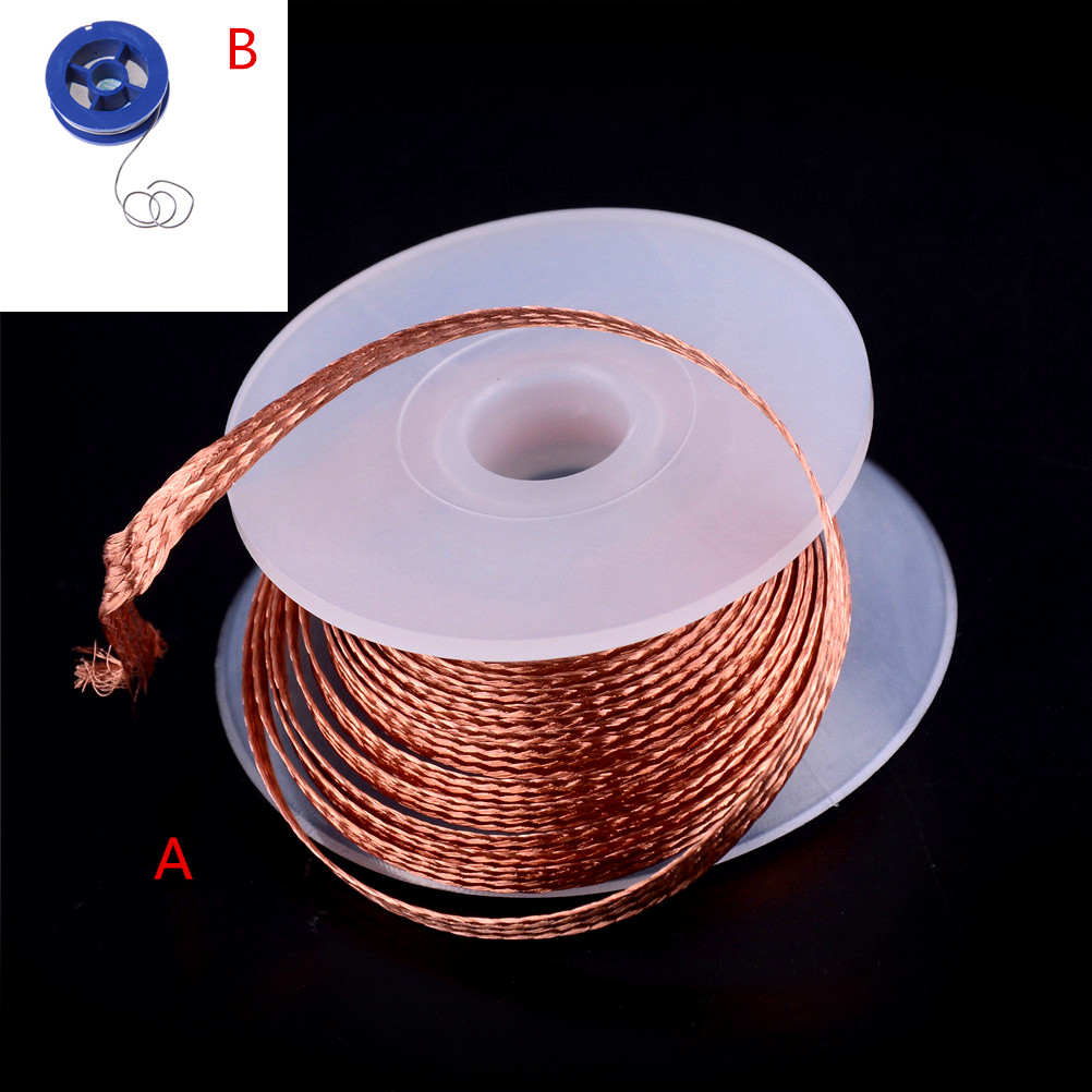 1PC 3.5mm 1.5M Desoldering Braid Welding Solder Remover Wick Wire Lead Cord Flux BGA Repair Tool