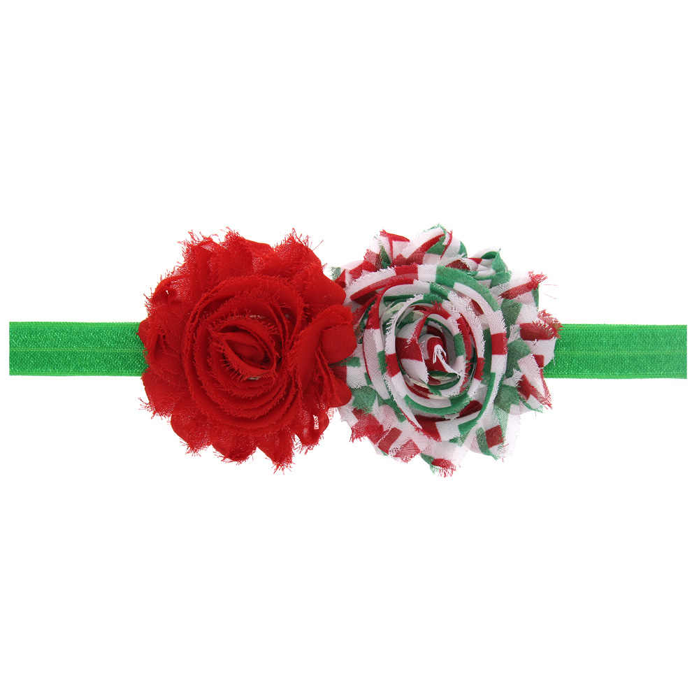 Navidad bebé niña diadema accesorio para el cabello infantil flor arco sombrero recién nacido tiara diadema regalo niño venda cinta floral