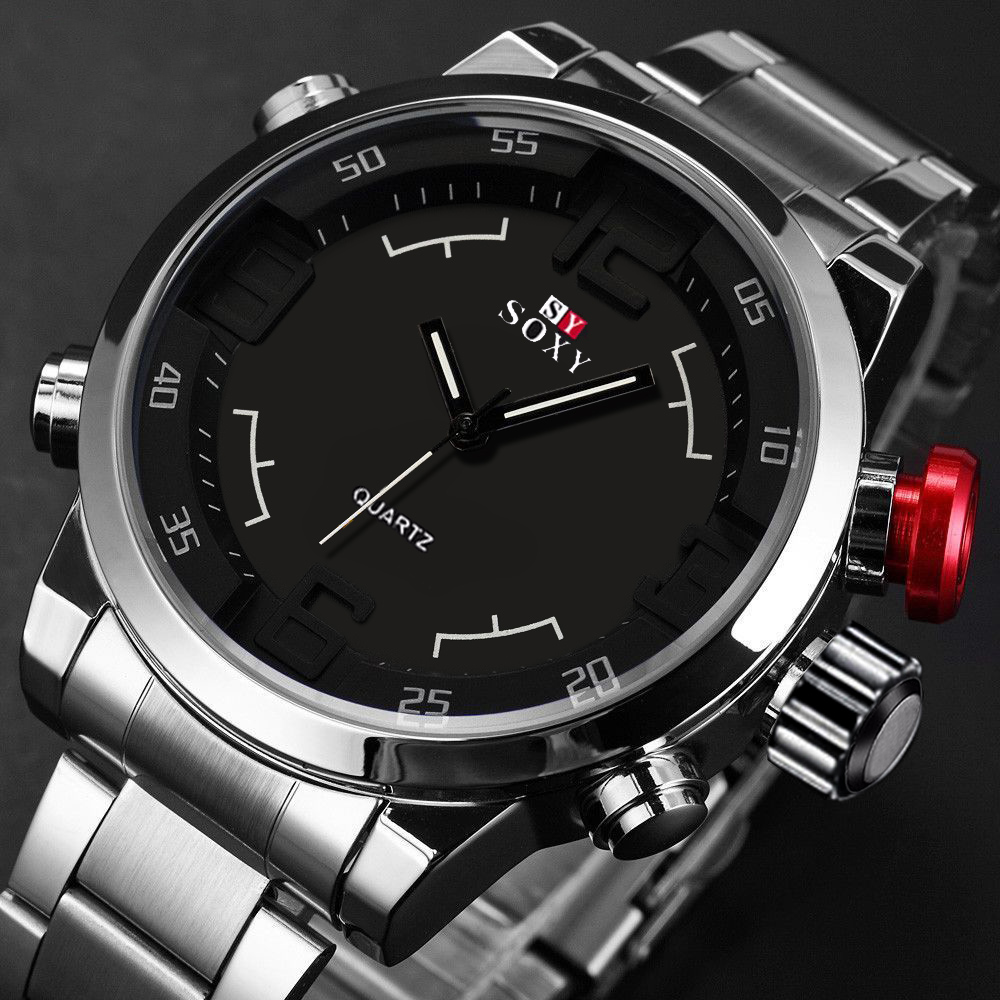 HOT Pretty high quality Mens Luxury Army Sport Wrist Watch Waterproof Analog Quartz Watches wholesale Oct21 cocoshine a 693 high quality luxury men s watches analog quartz faux leather sport wrist dress watch wholesale free shipping