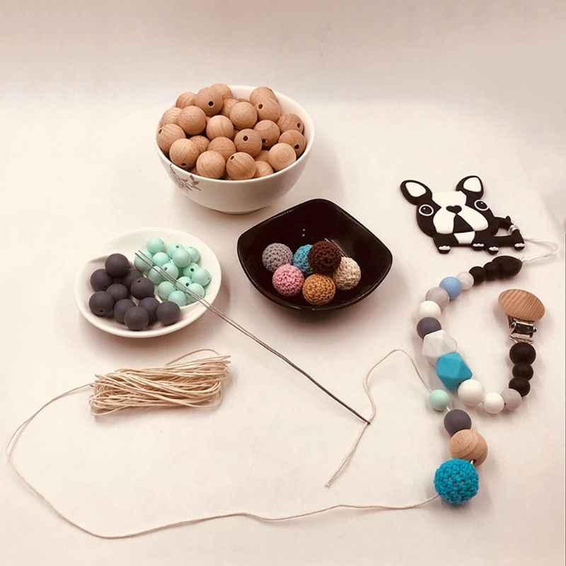 1mm cabo de algodão encerado bebê mordedor acessórios 5m corda encerado trançado linha de linha para diy jóias que fazem dentição colar