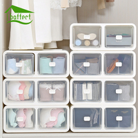 Creative Modern Living Room Plastic Storage Drawers Oganizer Box Socks Underwear Bra Container European Acrylic Casket