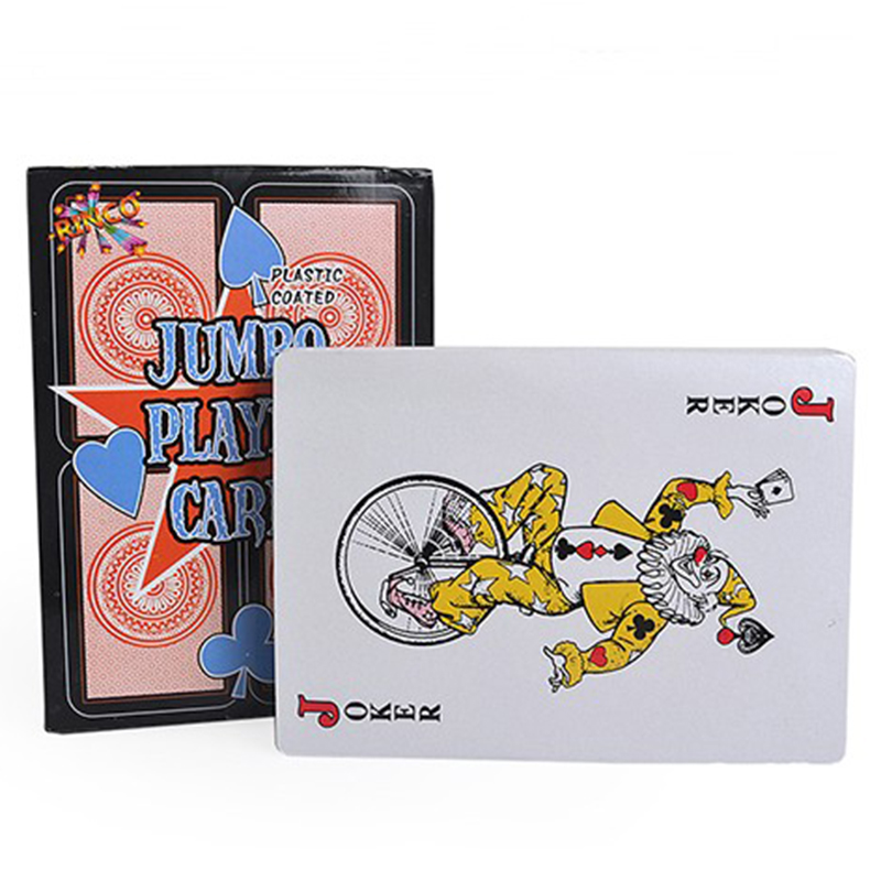 Playing Poker Cards Jumbo Giant Cards Deck Plastic Poker Playing Magic Props Tricks for BBQ Family Party Gaming