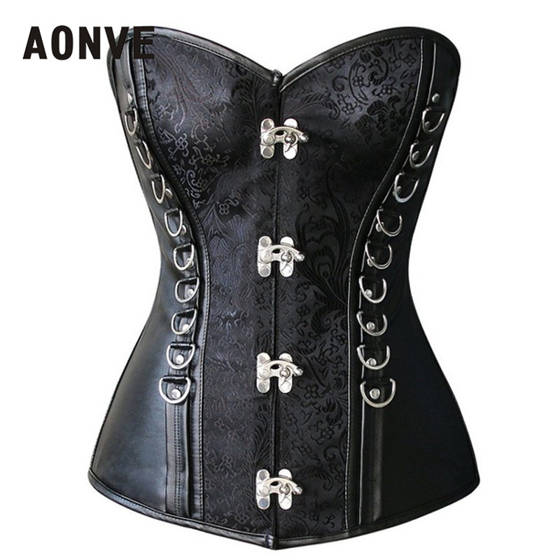 95634a0db1 AONVE Womens Vintage Corset Sexy Lingerie Push Up Bra Bustiers Overbust  Corsets Dress Party Skirts Corselet Cosplay