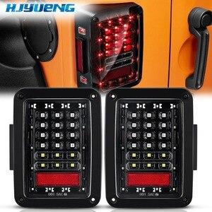 Image 1 - 75 w Für Jeep Wrangler Led Rücklicht Mit Reverse Licht Bremslicht Blinker Kunststoff Wrangler Schwanz Licht Für jeep Wragnler JK