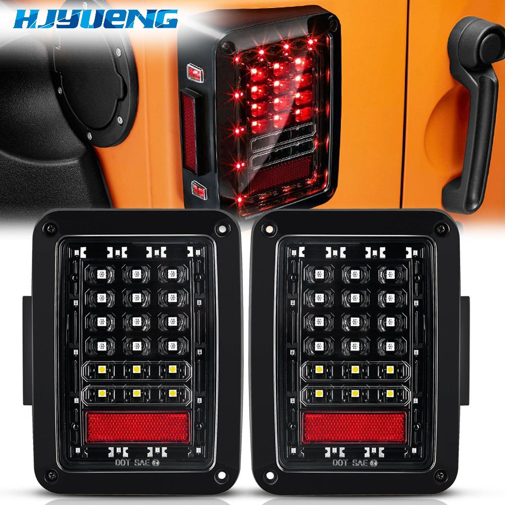 75w For Jeep Wrangler Led Tail Light With Reverse Light Brake Light Turn Signal Plastic Wrangler Tail Light For Jeep Wragnler JK-in Car Light Assembly from Automobiles & Motorcycles