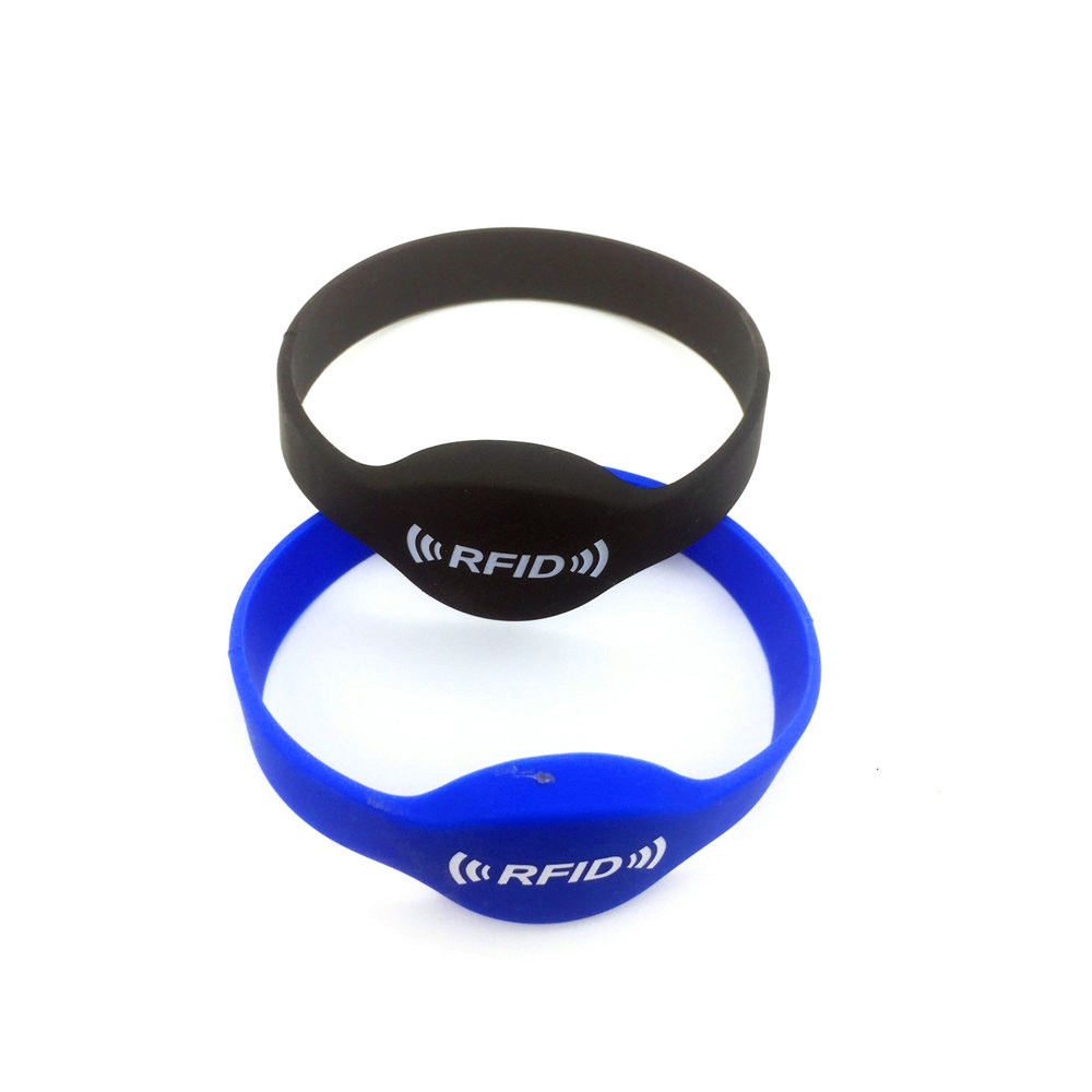 1Pcs Random Delivery 13.56MHZ MF 1K S50 F08 NFC Read Only Tags ISO14443A Silicone NFC Wristband Bracelet Printed RFID 65mm