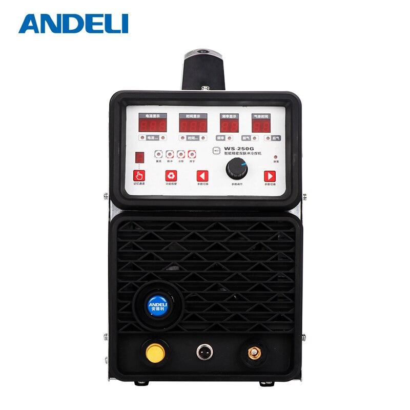 Andeli Werbung Wort Tig schweißer-250gpa Rvs Dc Mit Kalten Lassen Multifunktionale schweißen ausrüstung Maschine löten