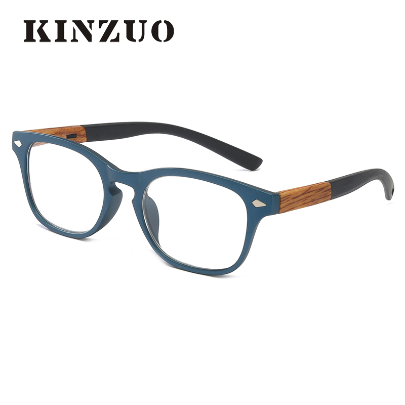 KINZUO  High Definition Visual Field Spring Leg Men Reading Glasses Unbreakable Retro Business Glasses