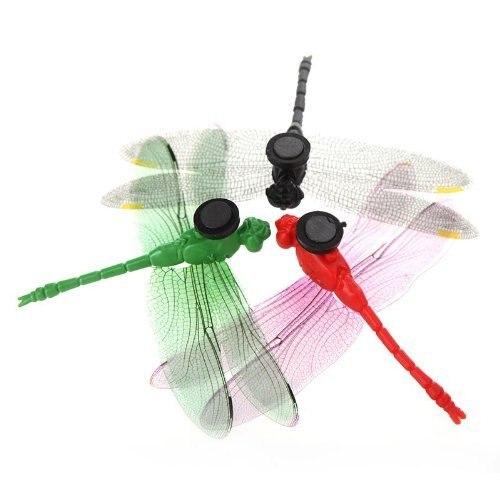 GSFY-5pcs 8cm 3D Artificial Dragonflies Luminous Fridge Magnet for Home Christmas Wedding Decoration, Colors Randomly Send 3