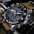 Роскошные Нейлон Холст Ремень мужская Военно-Спортивный Цифровые Часы Водонепроницаемые Человек Наручные Часы Relogio Masculino Relojes Hombre
