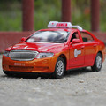 1:32 Free Shipping taxi car Alloy Diecast Car Model Pull Back Toy Car model Electronic Car with light&sound Kids Toys Gift