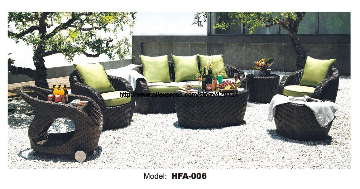 Rattan Garden Sofa Furniture Picnic Dining Car Table Outdoor Healthy Rattan Sofa Multiple Color Balcony Furniture Beach Chair circular arc sofa half round furniture healthy pe rattan garden furniture sofa set luxury garden outdoor furniture sofas hfa086