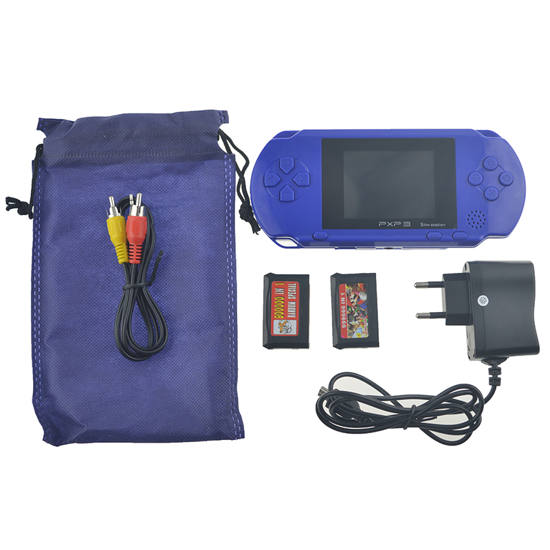 3 Inch 16 Bit PXP3 Slim Station Video Games Player Handheld Game With AV Cable Game