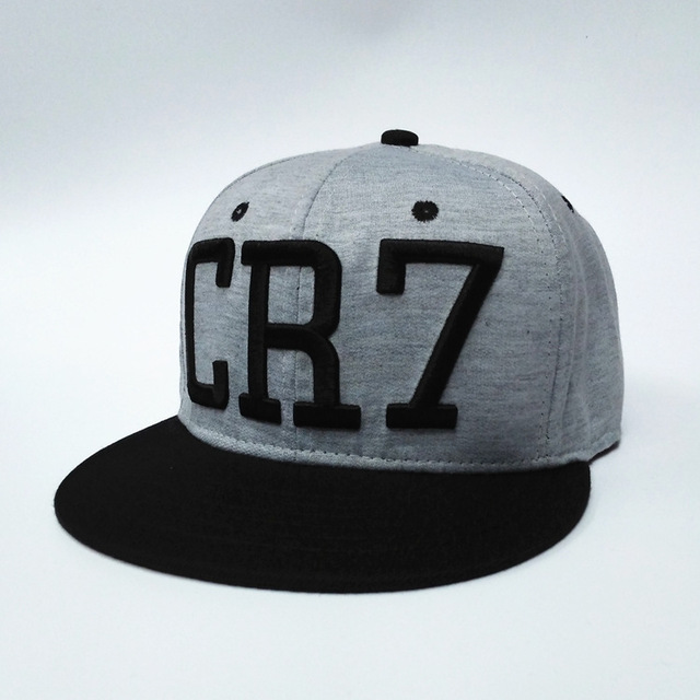 2017 new Cristiano Ronaldo gray CR7 Baseball Caps hip hop Sports Football  hat men women Snapback cap 3616b6d26